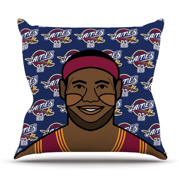 Lebron James Throw Pillow by KESS InHouse