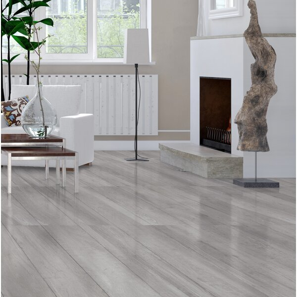 High Sierra 9 x 48 Porcelain Wood look Tile in Bianco White by Tesoro