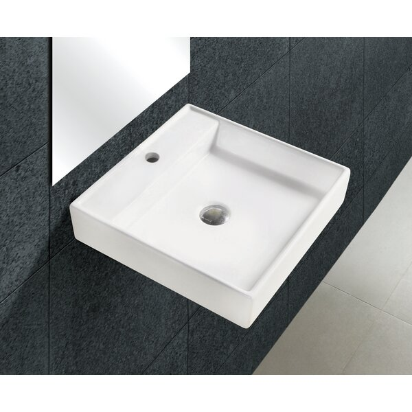 Freitag Ceramic 18 Wall Mount Bathroom Sink by Latitude Run