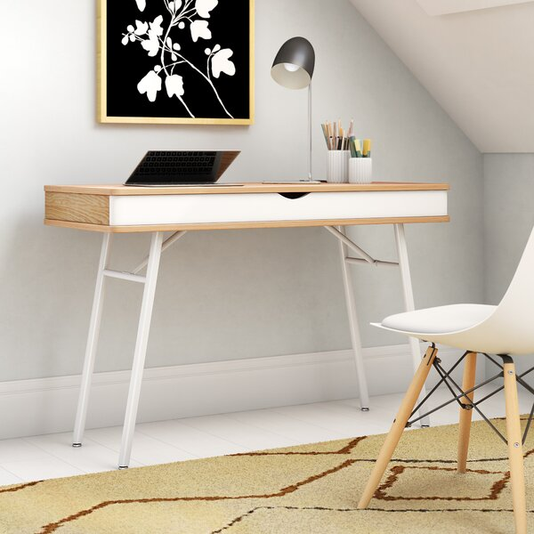 Writing Desk with Cord Management by Mercury Row