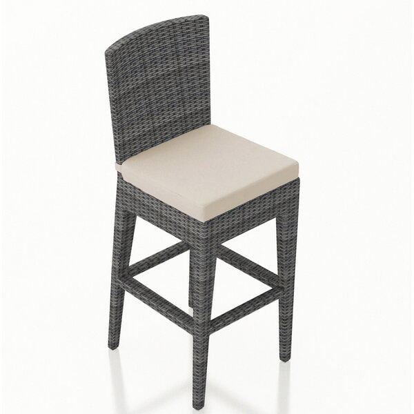 District 29 Patio Bar Stool with Cushion by Harmonia Living