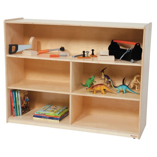 Clarendon 5 Compartment Shelving Unit with Casters by Symple Stuff