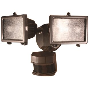 Online Reviews 2-Light Floodlight By Heathco