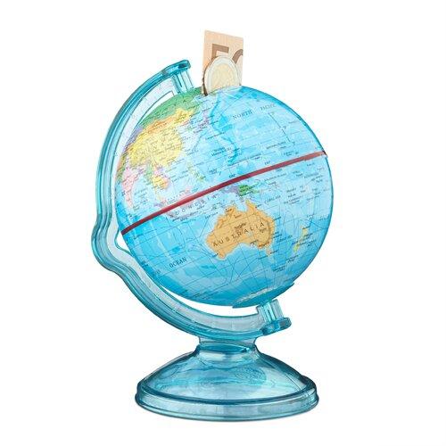Spardose Globus | Dekoration > Aufbewahrung und Ordnung > Dosen | Relaxdays