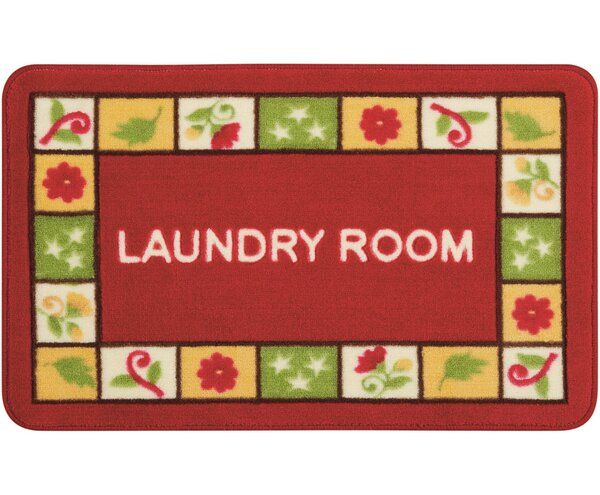 Shirely Red/Green Novelty Rug by Winston Porter