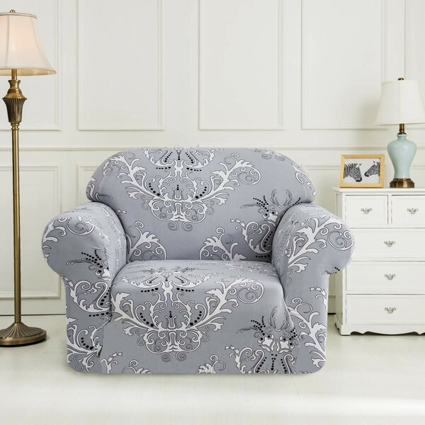 Printed Floral Box Cushion Armchair Slipcover by House of Hampton