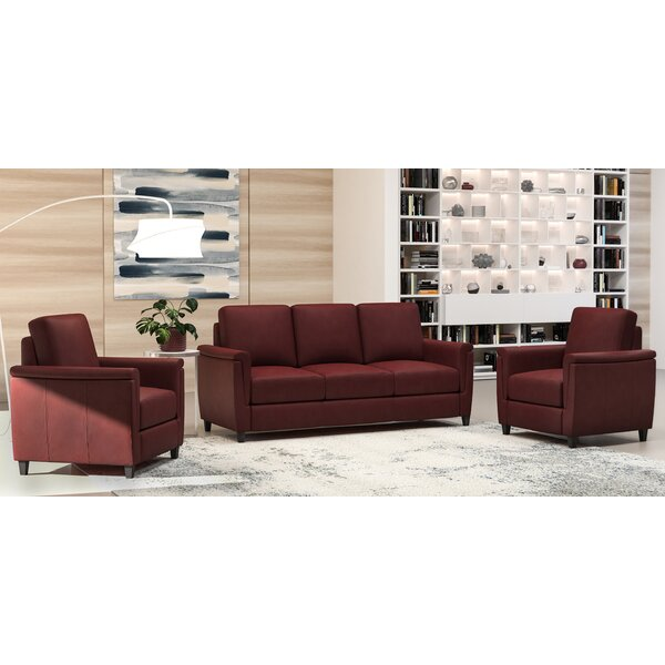 Altimo 3 Piece Leather Living Room Set by Westland and Birch