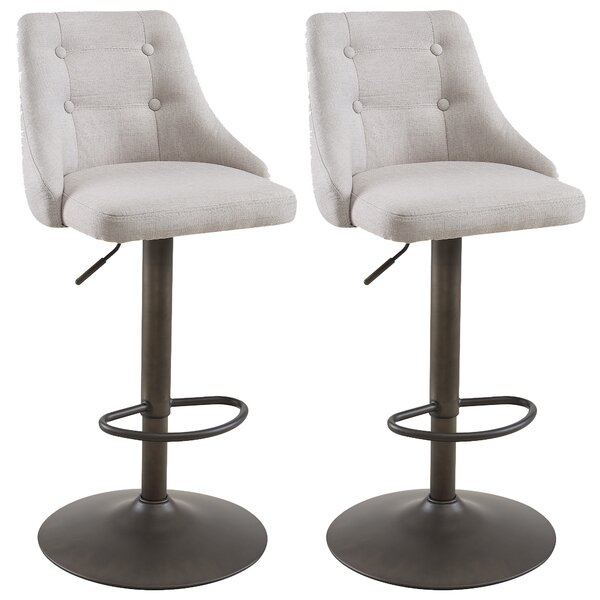 Judkins Adjustable Height Bar Stool (Set of 2) by Brayden Studio