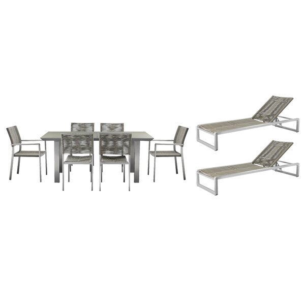 Bella 9 Piece Complete Patio Set by Orren Ellis