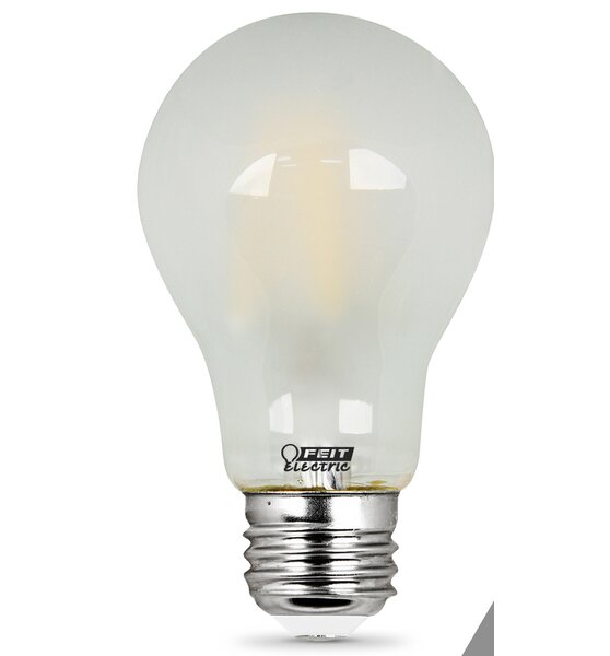 7W Frosted E27/Medium LED Light Bulb Pack of 2 by FeitElectric