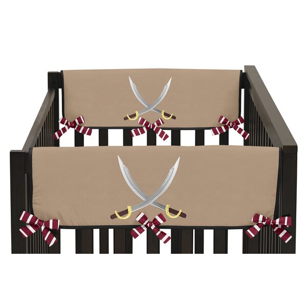 Pirate Treasure Cove Side Crib Rail Guard Cover (Set of 2) by Sweet Jojo Designs