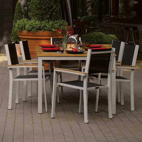 Travira 7 Piece Teak Dining Set by Oxford Garden