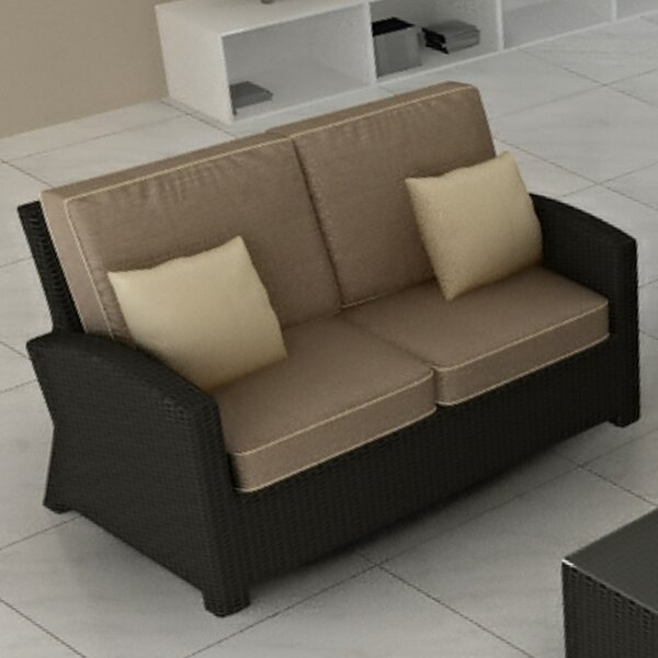 Kham Loveseat with Cushions by Wrought Studio