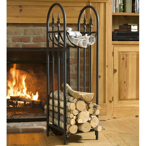 Hearthside Finial Log Rack by Plow & Hearth