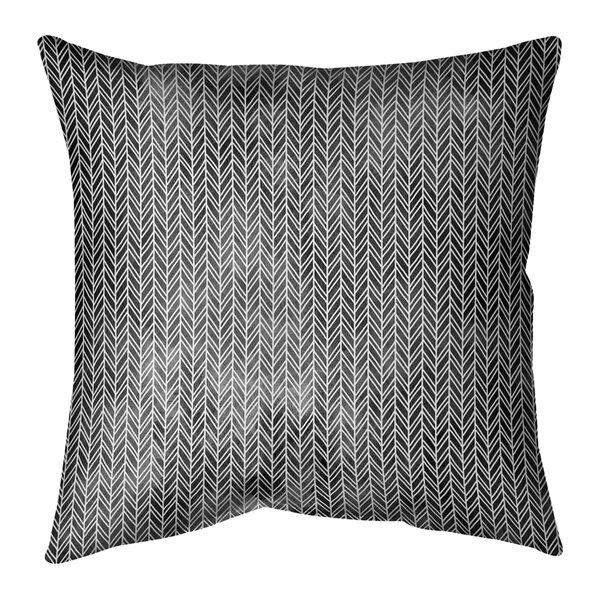 Avicia Herringbone Indoor/Outdoor Throw Pillow