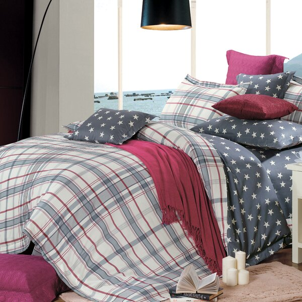 Oxford 4 Piece Reversible Duvet Set by North Home