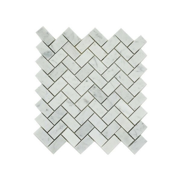 Harlow 1 x 2 Marble Mosaic Tile in Gray by A Touch of Design