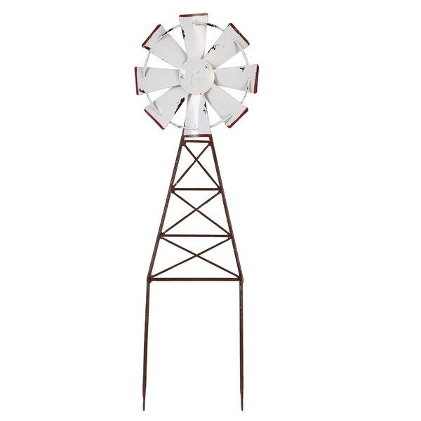 Massey Enamel Windmill Garden Stake by Gracie Oaks