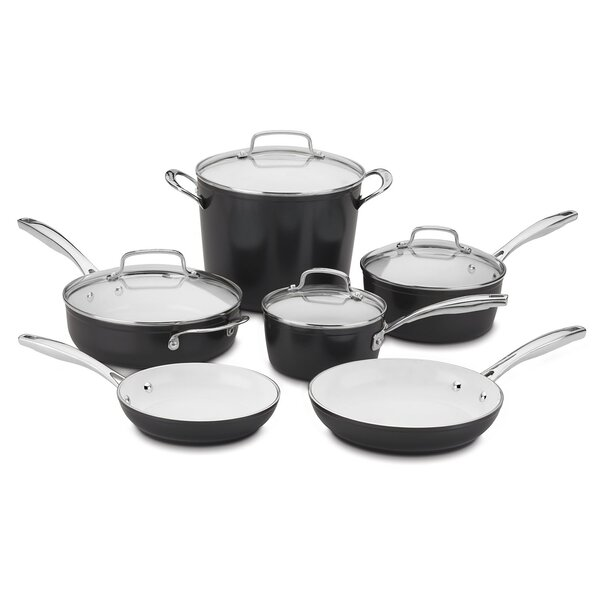 Elements Pro 10 Piece Non-Stick Cookware Set by Cu