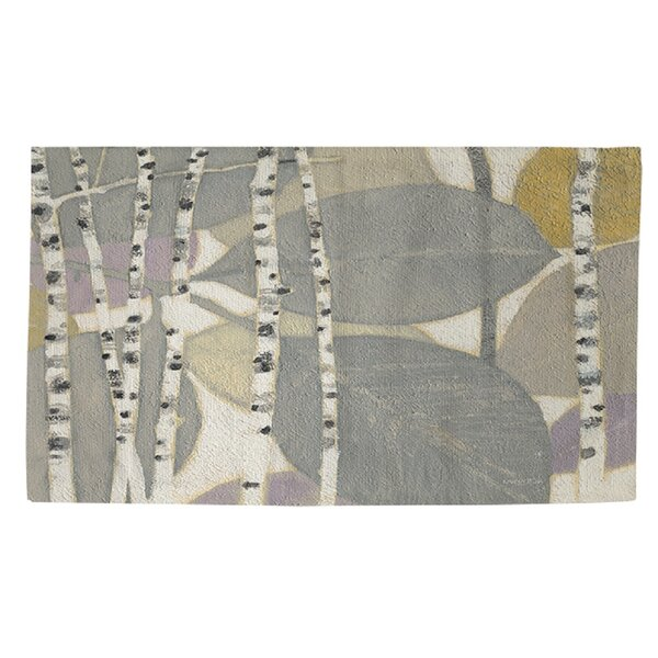 Birch Leaf 2 Grey Area Rug by Manual Woodworkers & Weavers