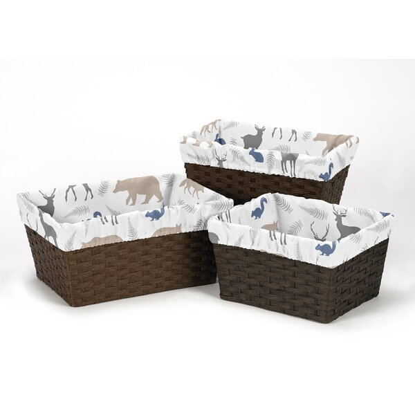 Woodland Animals 3 Piece Basket Liner Set by Sweet Jojo Designs