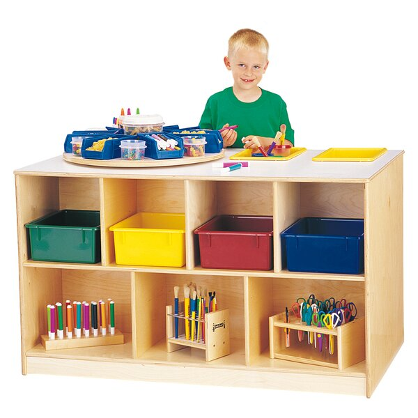 18 Compartment Shelving Unit with Casters by Jonti-Craft