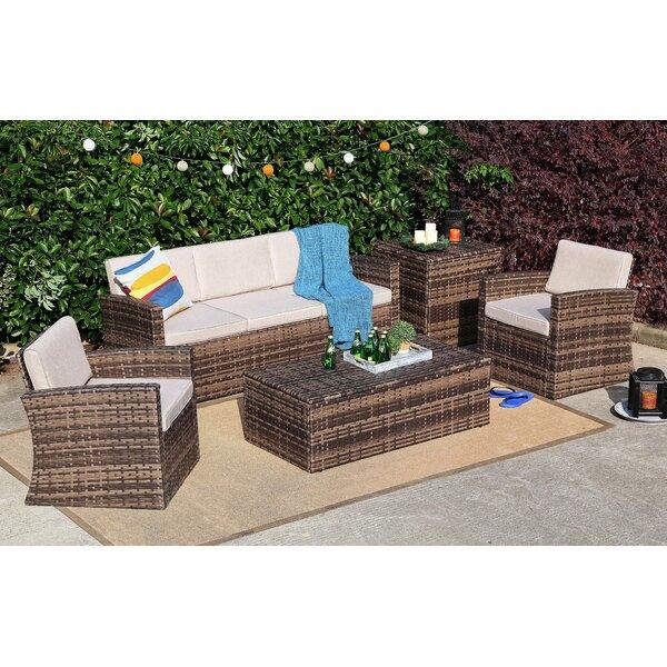 5 Piece Sofa Set with Cushions by Baner Garden Baner Garden