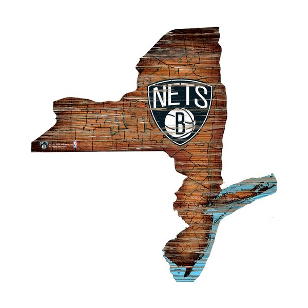 NBA Nets Distressed State Wall Décor by Fan Creations