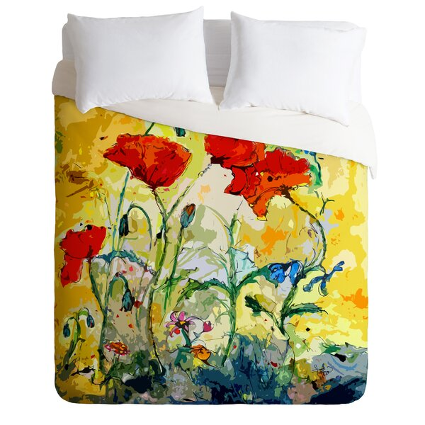 Lightweight Poppies Provence Duvet Cover Collection