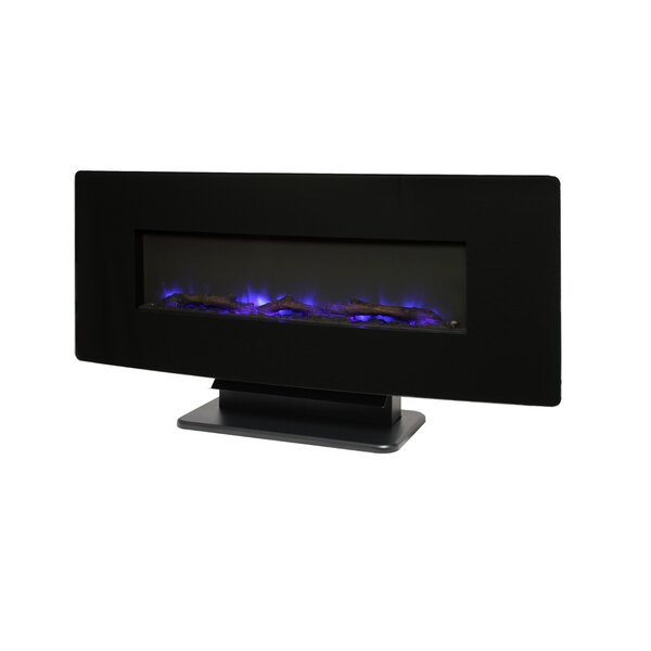 Curved Front Slim Line Wall Mounted Electric Fireplace By Muskoka