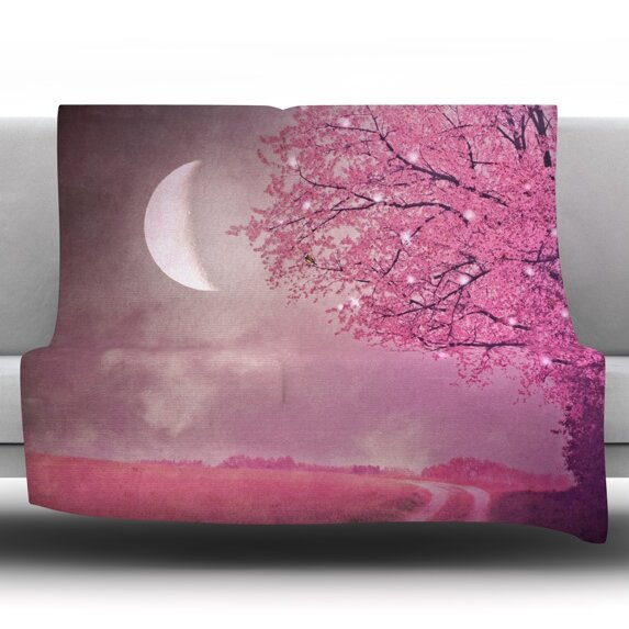 Song of The Springbird Throw Blanket by KESS InHouse