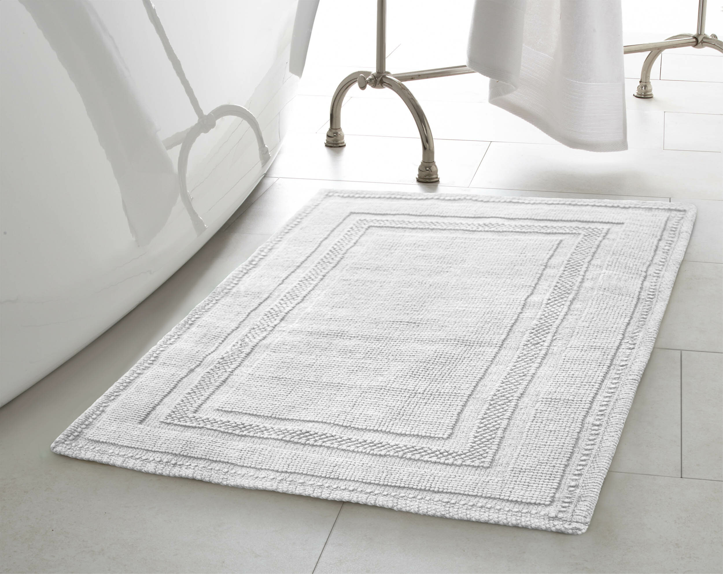 White Yellow Gold Bath Rugs Mats You Ll Love In 2021 Wayfair
