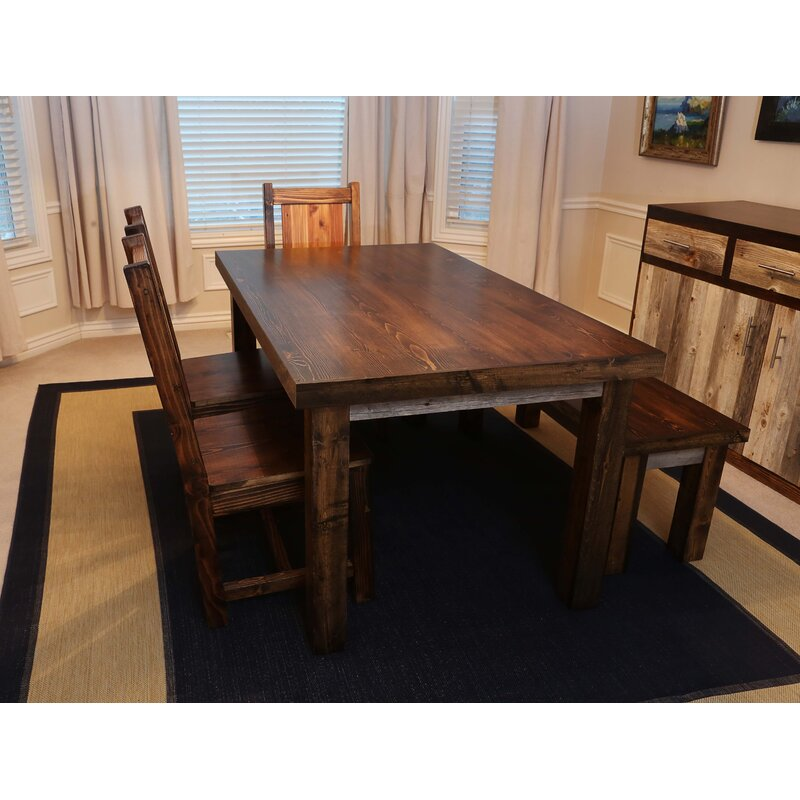 Union Rustic Gaye Solid Wood Dining Table | Wayfair