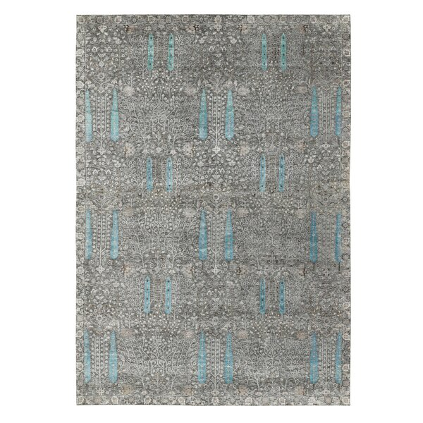 One-of-a-Kind Hand-Knotted New Age Gray 12' x 17'9 Area Rug