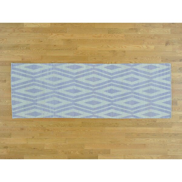 One-of-a-Kind Borchers Reversible Handmade Kilim Ivory Wool Area Rug by Isabelline