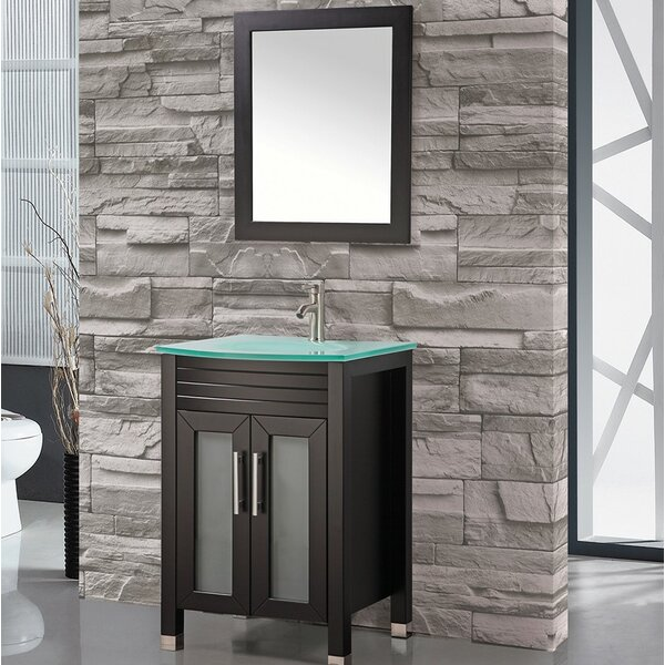 Prall 24 Single Sink Bathroom Vanity Set with Mirror by Orren Ellis