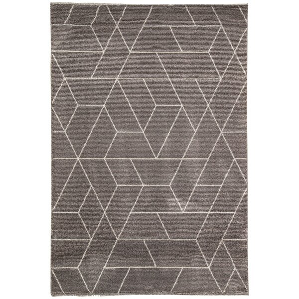 Lyme Charcoal Gray/Paloma Area Rug by George Oliver