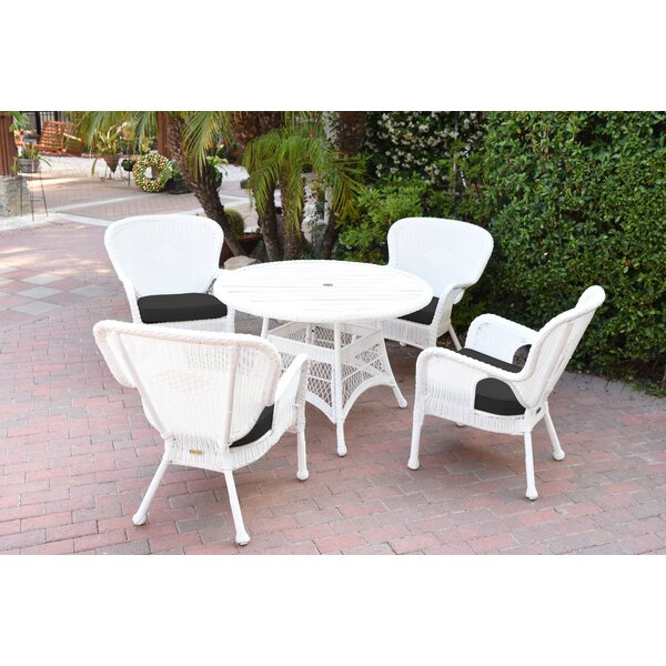 Smiley 9 Piece Dining Set with Cushions by Bay Isle Home