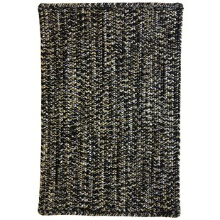 Aukerman Hand-Braided Black/Beige Indoor/Outdoor Area Rug Isabelline