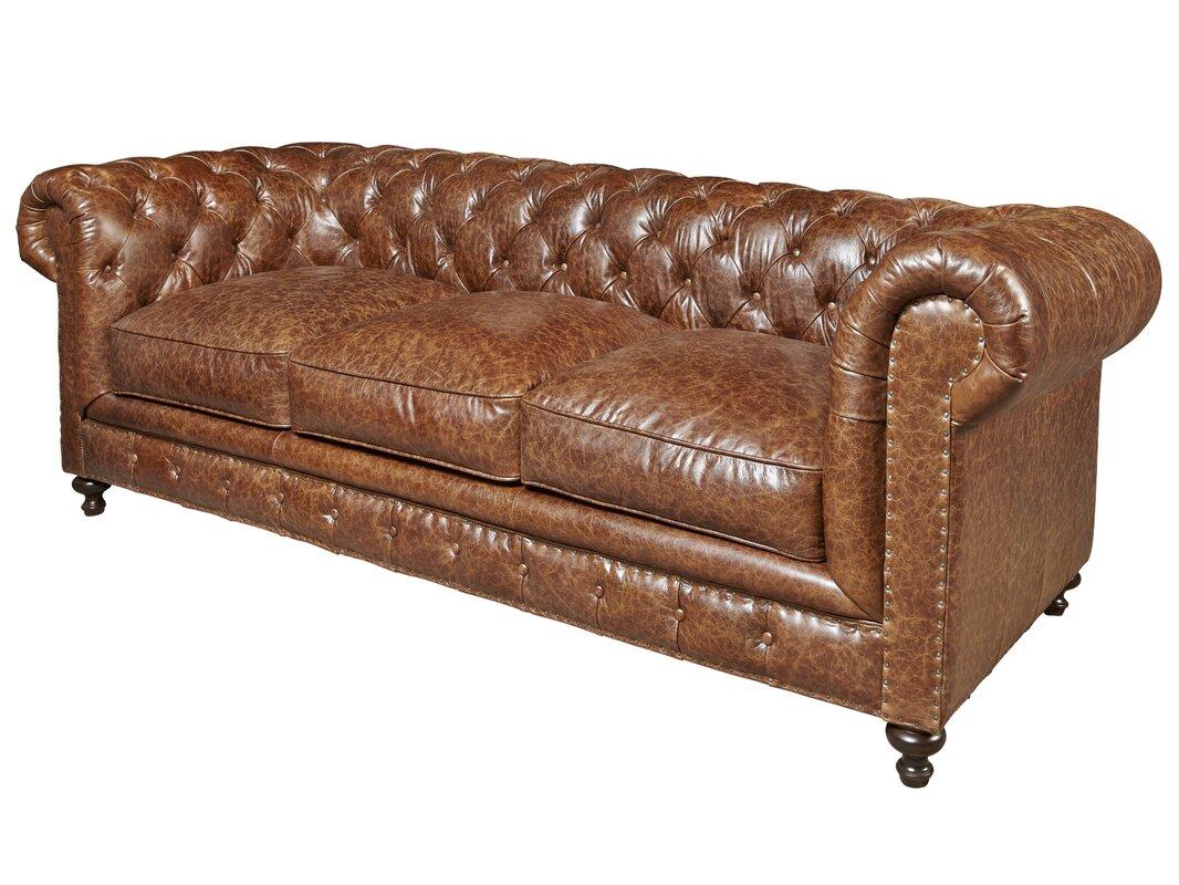 Trent Austin Design Julesburg Leather Chesterfield Sofa