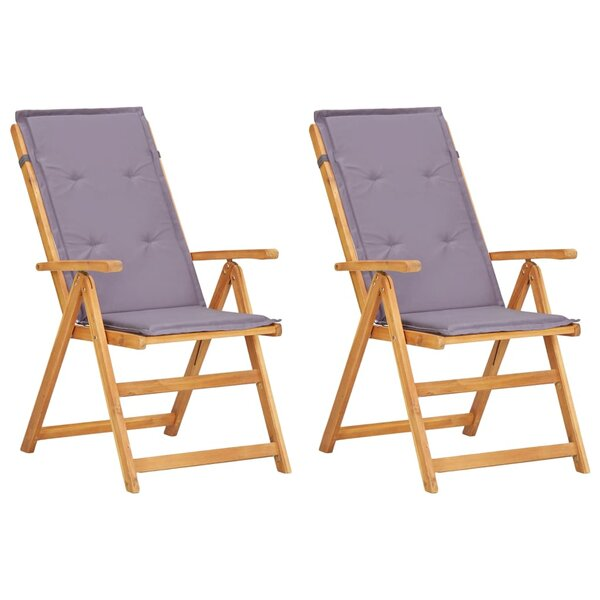 Sippel Folding Patio Dining Chair with Cushion (Set of 2) by Highland Dunes