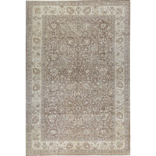 Sultanabad Hand Knotted Wool Camel/Cream Rug