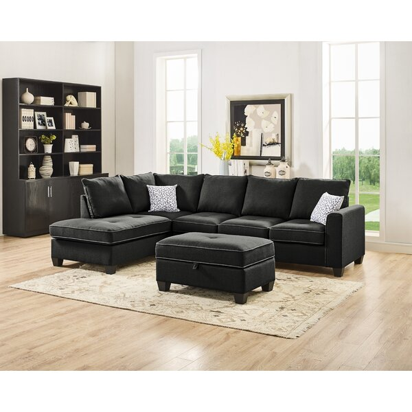 Perfect Priced Sheryll Reversible Sectional with Ottoman by Ebern Designs by Ebern Designs