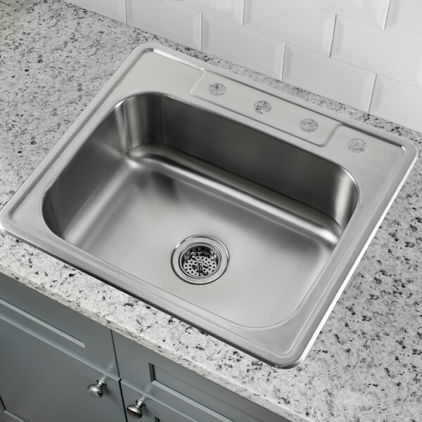 25 L x 22 W Drop-In Kitchen Sink by Cahaba