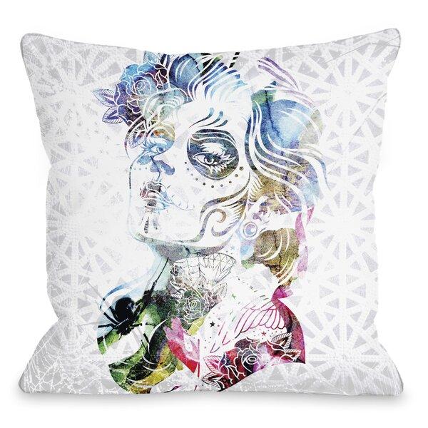 Dia Girl Throw Pillow by One Bella Casa