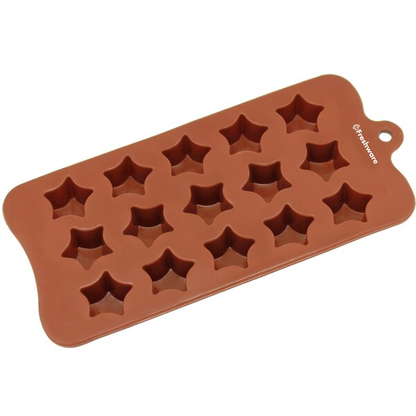 15 Cavity Super Star Silicone Mold Pan by Freshware