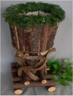 Jaclyn All Natural Barkwood Round Pot Planter by Loon Peak