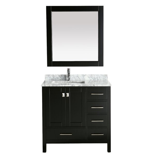 London Hyde 36 Single Bathroom Vanity with Mirror by dCOR design