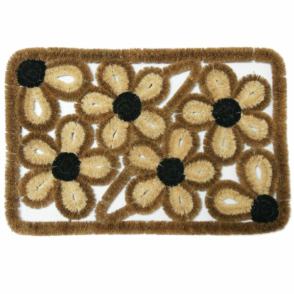 Wild Flowers Coco Coir Doormat by Rubber-Cal, Inc.