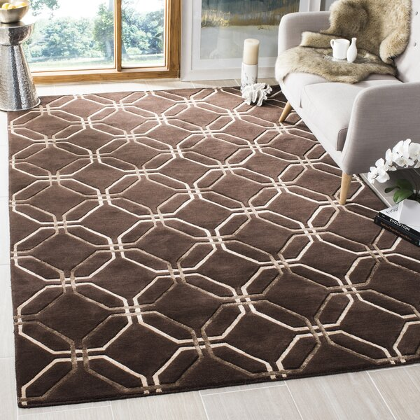 Brown Geometric Rug by dCOR design